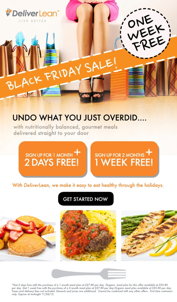 DeliverLean's Black Friday Special!