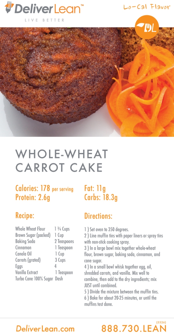 DeliverLean Carrot Cake Muffin